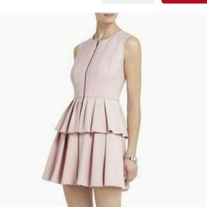 "BCBG MAX AZRIA ""Audrey"" Dusty Pink Peplum Dress"
